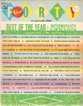 Forty Best of the Year Intermediate Organ - $3.00