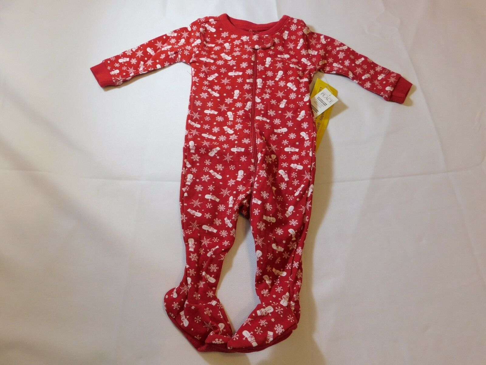 The Children's Place Baby Boy's Footie PJ Pajamas Size 0-3 Months Christmas NWT - $16.21