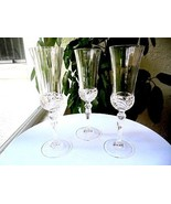 "Set of 3 Royal Crystal Rock Aurea Pattern Champagne Flutes 8 1/2"" Tall - £28.96 GBP"