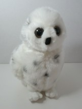 "Aurora Plush white spotted owl stuffed anima big eyes 2017 about 10"" - $6.92"