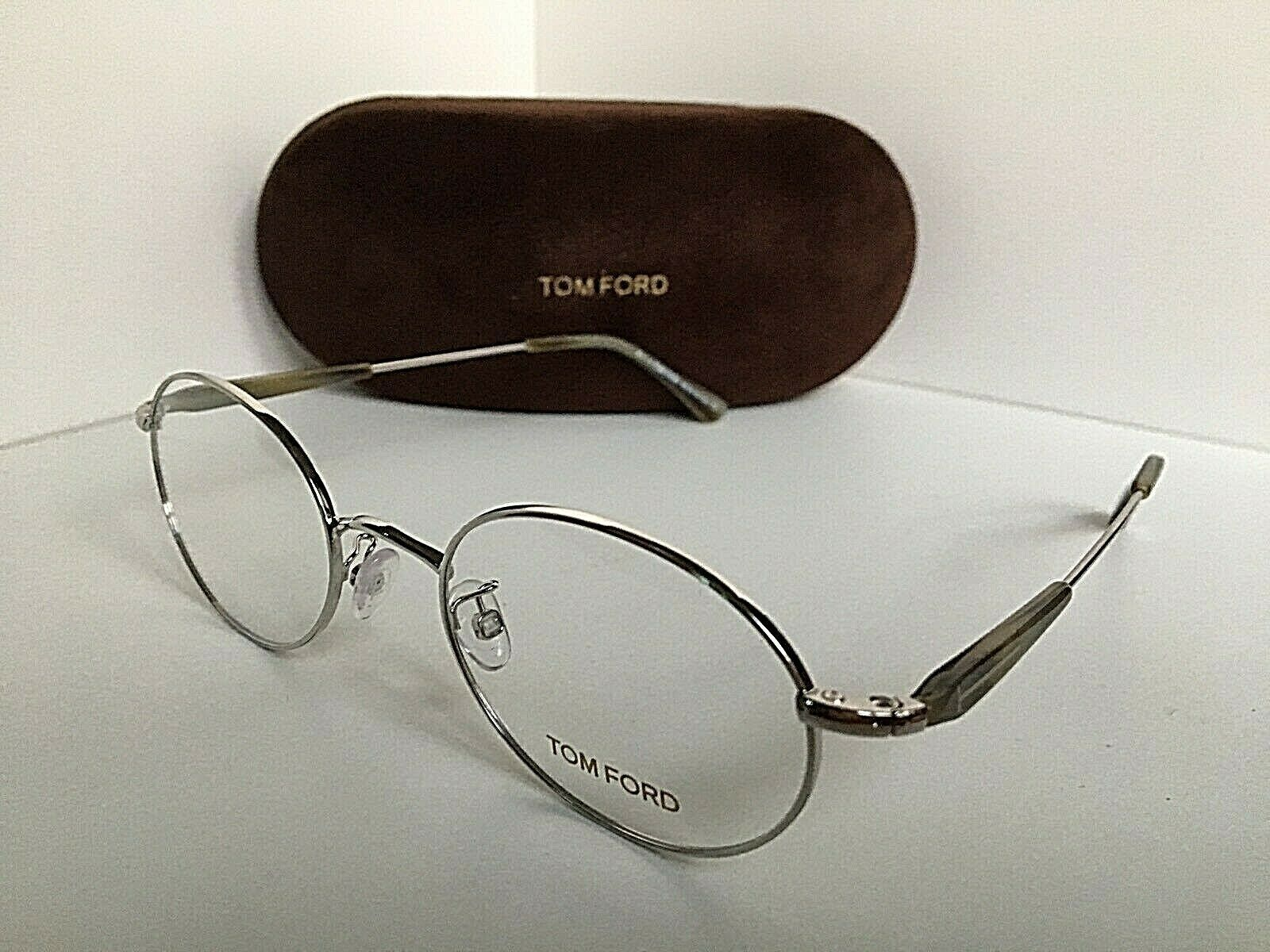 New Tom Ford TF 5345  016 51mm Rx Oval Silver Eyeglasses Frame