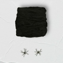 10pk Black Spooky Spiderweb Halloween Haunted House Decorations Plastic ... - $9.49
