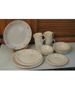 FOREVER YOURS Corning Corelle Dinnerware 24 Pc Set Berry Bowls Lunch Pla... - $49.49