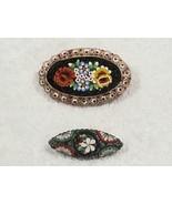 2 Vintage Italian Mini Mosaic Pin Broaches Italy     FREE USA SHIP - $40.00