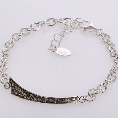 SILVER 925 BRACELET RHODIUM MEN'S BY MARY JANE IELPO MADE IN ITALY