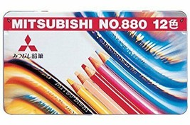 K88012CP Mitsubishi Pencil colored pencils 880 Grade 12 colors - $11.07
