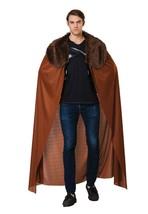Mens Cape, Brown with Fur Collar, Mens Fancy Dress Costume #AU - $27.27