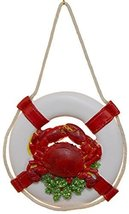 Resin Life Ring Ornament w/ Crab