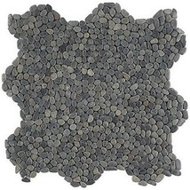 4 in. x 6 in. Countryside Black Lava Micropebbles Mosaic Floor and Wall Tile Sam