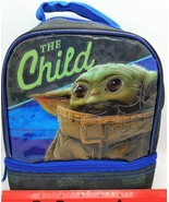 Star Wars Mandalorian The Child dual compartment insulated lunch box/bag... - $15.84