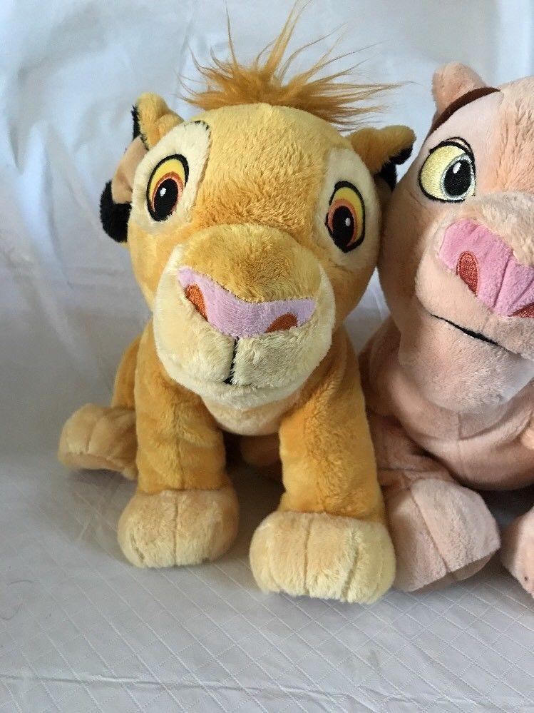 Disney Store Lion King Simba & Nala Plush Stuffed Animals Super Soft