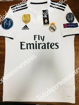Adidas Real Madrid Home Soccer Jersey 2018-2019 Champions Patches Size XL - $118.79