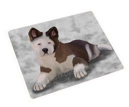Akita Puppy Dog Art Portrait Print Woven Throw Sherpa Plush Fleece Blank... - ₹10,563.22 INR