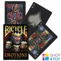 BICYCLE EMOTIONS PLAYING CARDS DECK POKER USPCC JOHNNY WHAAM MAGIC FINIS... - $9.89