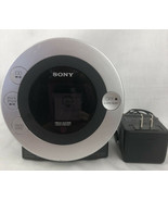 Sony Dream Machine Clock  AM/FM Radio  CD Player I Pod Docking ICF-CD31P Tested  - $23.67