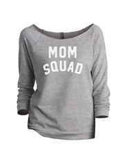 Thread Tank Mom Squad Women's Slouchy 3/4 Sleeves Raglan Sweatshirt Sport Grey - $24.99+