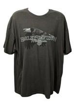 Harley Davidson Motorcycle Munster Indiana Eagle T-shirt Gray Size 2XL - $29.69