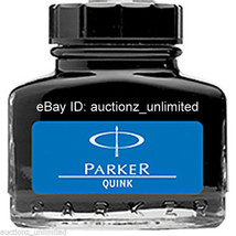 2 Parker Quink - Blue Ink - Bottle ( 30 Ml )- 1 oz - New Sealed Pack - 2... - $9.99
