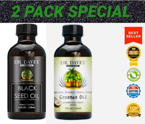 Primary image for Organic Black Seed Oil & Coconut Oil Each 4oz:Pure & Natural Combo 2 Pack