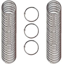 Clipco Book Rings Medium 1.5-Inch Nickel Plated 100-Pack - $16.53