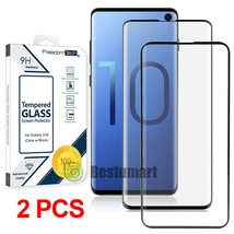 2x Samsung Galaxy S10/S10 Plus 10e Full Coverage Tempered Glass Screen Protector - $17.70
