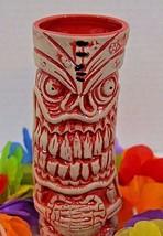 Frankie's Tiki Room Lava Letch Mug Red & White Color Big Toe Las Vegas N... - $49.99