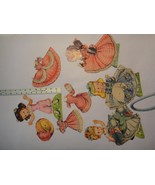 Vintage Merrill POLLY & HER PLAYMATES #1556 1951 4 Paper Dolls & Costume... - $14.85
