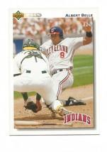 Albert Belle 1992 Upper Deck Card #137 Cleveland Indians Free Shipping - $1.15