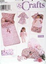 """OOP Simplicity Pattern 7770. Childs & 18"""" Dolls: Sleeping Bag; & Duffle ... - $21.76"""