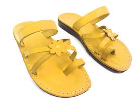 Leather Sandals for Women FLOWER by SANDALIM Biblical Greek Roman Sandals - $39.44 CAD+
