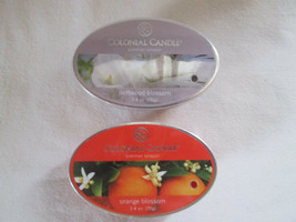 2 Colonial Candle Snaps/Tarts -ORANGE BLOSSOM & DRIFTWOOD BLOSSOM  simme... - $7.00