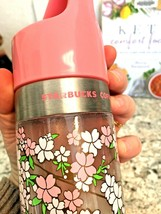 Starbucks 2009 Pink Cherry Blossoms Limited Edition Water Bottle 20 Oz - $39.55