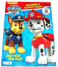 Paw Patrol Just Yelp for Help! Coloring & Activity Book with Over 30 Sti... - £4.29 GBP