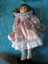 "CLASSICAL TREASURES BY THE DOLL CRAFTER 16"" PORCELAIN DOLL WITH VICTORIA... - $15.48"