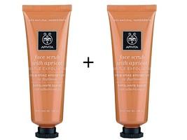Apivita Face Scrub with Apricot 2 x 50ml - $30.00