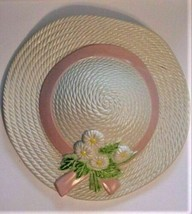 Burwood Plastic Easter Hat Planter Wall Pocket Hanging 1985 - $18.76