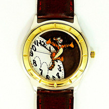 Men's Fossil Disney Tigger Jumping From Clock, 3-D Look, New Unworn Watc... - $113.70