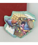 11 Blank VTG XMAS Hallmark Greeting Cards Envelopes 80s Glitter Birdhous... - $19.79