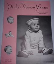 Vintage Pauline Denham Yarns California Originals Baby Designs Vol 102  - $4.99