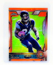 NFL TJ YELDON JACKSONVILLE JAGUAR 2015 TOPPS CHROME ORANGE ROOKIE REFRAC... - $0.53