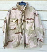USGI COAT COLD WEATHER FIELD DESERT CAMO M-65 JACKET - LARGE REGULAR. - $84.15