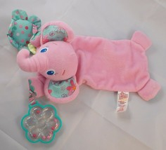 Bright Starts Pink Elephant Lovey Rattle Toy Stuffed Animal toy - $4.95