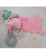 Bright Starts Pink Elephant Lovey Rattle Toy Stuffed Animal toy - $5.95