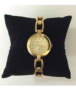 Cote d'Azur Gold Tone Crystals Women's Bracelet Watch New Battery - $11.57