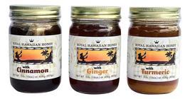 Hawaiian Raw Cinnamon Turmeric Ginger Honey 3 Pack - $49.99