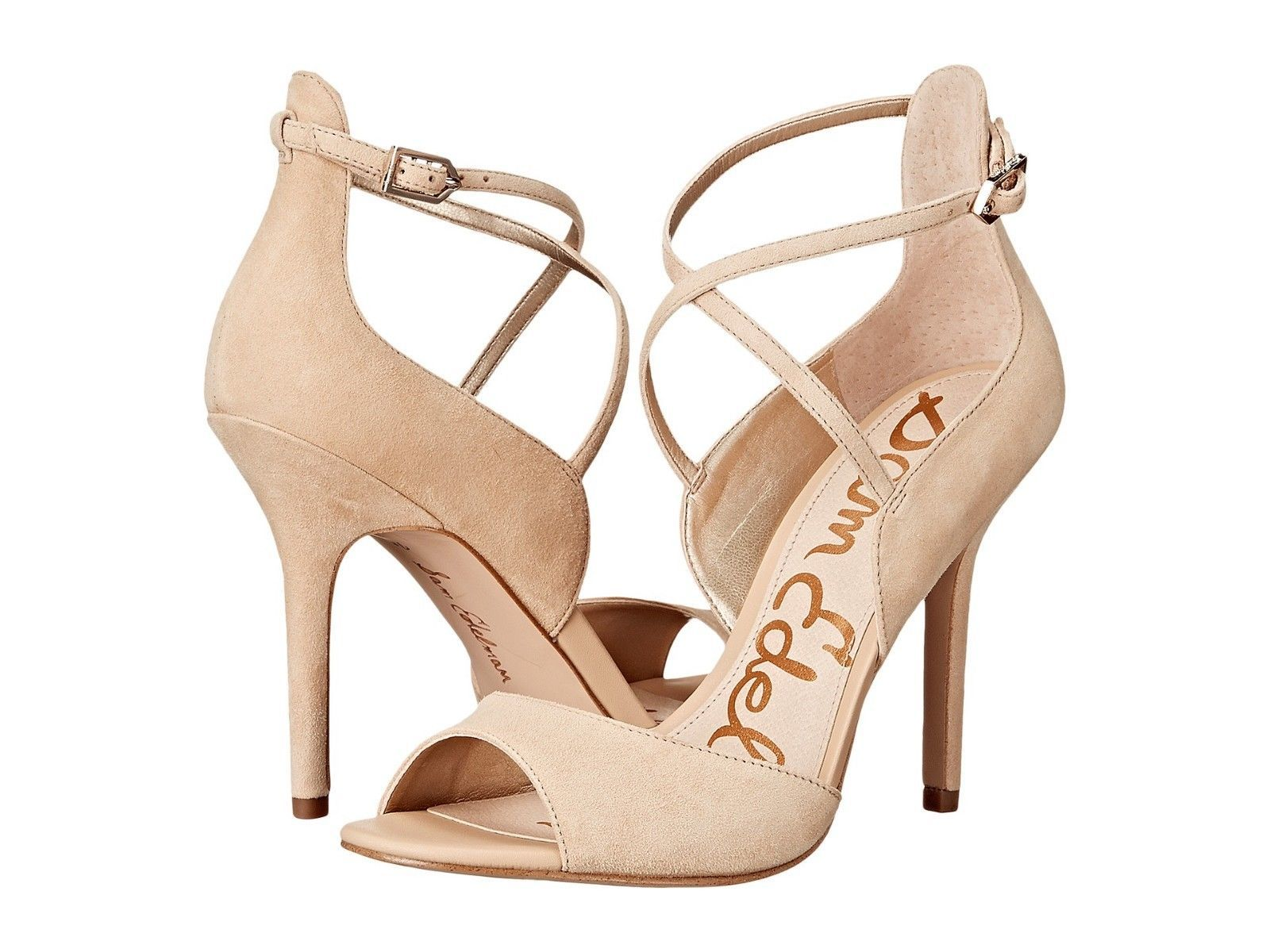 0e1ac3740f4a19 Sam Edelman Audrey Women s High Heels Sandals Desert Nude Suede Leather  Size 9.5 -  58.58
