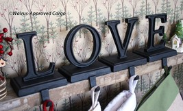 Pottery Barn Bronze Word Stocking Holders -NIB- Hang With Some Holiday Love! - $149.95