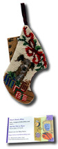 Border Terrier Dog Stocking Christmas Needlepoint Patchwork Puppy SK-812XS - $8.59