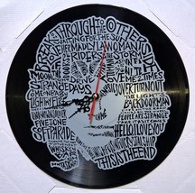 VINYL PLANET Wall Clock  JIM MORRISON  The Doors Home Record Unique Deco... - $26.93