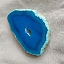 "Agate Slices, Polished Geode Slice, Blue Purple Yellow, 2-3"" polish stone decor image 2"